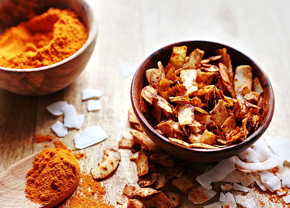 Recette Chips de coco au paprika Le Blog 7 Saveurs