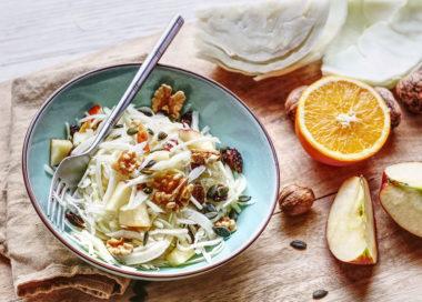 Salade Vegan de chou blanc mariné aux agrumes. Le Blog 7 Saveurs Recettes